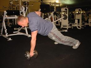 remo inclinado, excelente ejercicio abdominal
